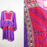 The Boho Queen - Vintage Bohemian Cotton Gauze Summer Dress