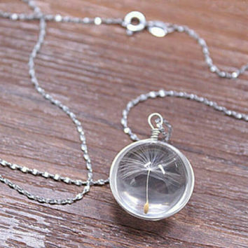 Dandelion Necklace - Unique Pendant Necklace -