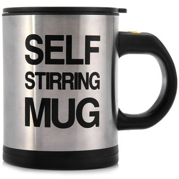 Stainless Self Stirring Coffee Mug - 400ml (3 colors)