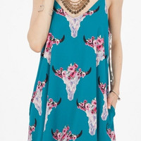 Perfect Bullhead Floral Jade Swing Dress