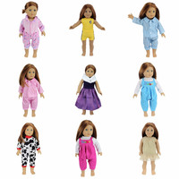 12 Colors American Girl Doll Dress 18 Inch Doll Clothes And Accessories Dresses