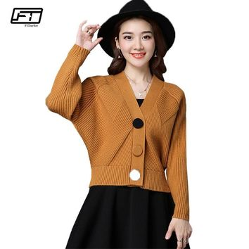 Trendy Fitaylor Women Knitted Sweater Cardigan Coat Spring Autumn Casual V-neck Long Sleeve Sweater Jacket Short Coat Female Tops AT_94_13