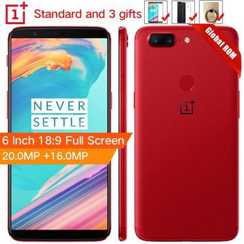 """Oneplus 5T 5 T 6 GB 64GB Snapdragon 835 Octa Core Smartphone 6.01""""20.0MP 16.0MP Dual Camera LTE 4G Android 7.1"""