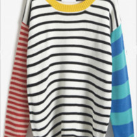 Color Block Striped Oversize Sweater.  LOVE the Colors!