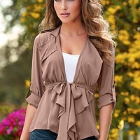 Lightweight Belted Jacket