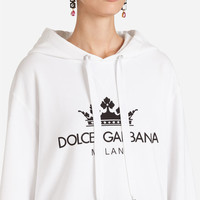 Women's T-shirts and Sweatshirts | Dolce&Gabbana - PRINTED COTTON SWEATSHIRT