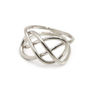 Infinity Knot Ring in Silver