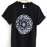 Zodiac Wheel Graphic Black Unisex Tee