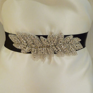 Bridal Rhinestone Sash FRANCESCA Crystal by BellaCescaBoutique