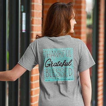 Cherished Girl Thankful Grateful Blessed Girlie Christian Bright T Shirt