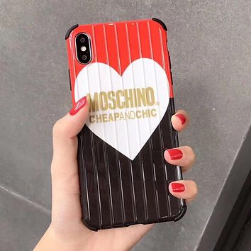 MOSCHINO Newest Fashion Mobile Phone Cover Case For iphone 6 6s 6plus 6s-plus 7 7plus 8 8plus X XS Max XR White&Black&Red