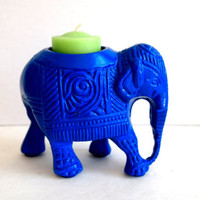 Vintage Indian Elephant  Metal Candle Holder by IntenseInteriors