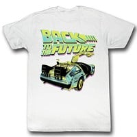BTF Neon White Back To The Future Tee Shirt