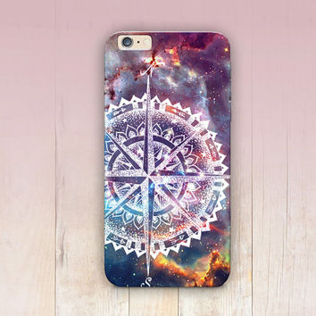 Compass Galaxy Travel Phone Case - iPhone 6 Case - iPhone 5 Case - iPhone 4 Case - Samsung S4 Case - iPhone 5C - Tough Case - Matte Case