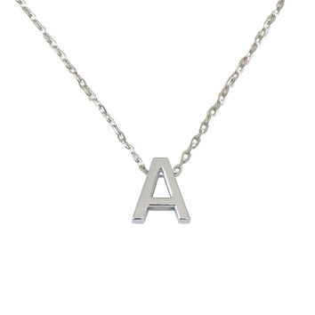 ALIF SILVER GM LETTERS NECKLACE