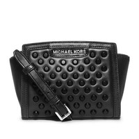 MICHAEL Michael Kors Mini Selma Studded Black Messenger Bag