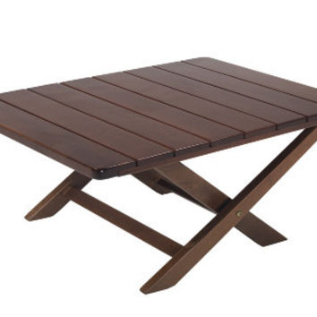 Solid wood folding side, coffee table