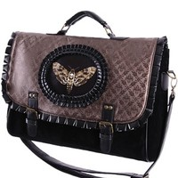 Restyle Moth Satchel Brown