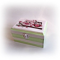Baby Owl Box First Birthday Gift Newborn Baby Box Personalized Baby Box Baby Owl Gift Christening Baby Gift Nursery Decor Baby Keepsake Box