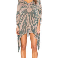 V Neck Cape Cool Dress in Tahitian Sands
