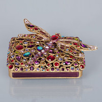 Jay Strongwater Fredrico Bejeweled Dragonfly Box