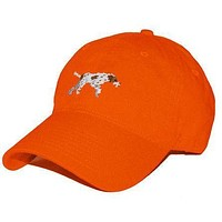 Pointer Needlepoint Hat in Orange by Smathers & Branson
