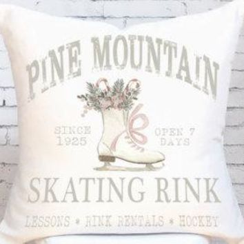Vintage Style Ice Skates Pillow Cover