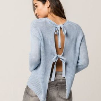 IVY & MAIN Tie Back Womens Sweater