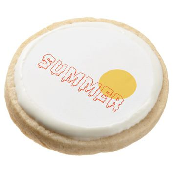 Summer Round Shortbread Cookie