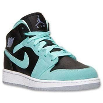 LMFIW1 Girls' Grade School Air Jordan 1 Mid Basketball Shoes