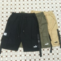 HCXX 2140 PUMA Embroidered cargo shorts with multiple pockets