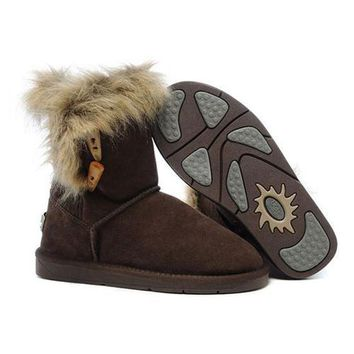 Uggs Boots Cyber Monday Fox Fur 5685 Chocolate For Women 94 09