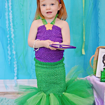 Little Mermaid Tutu Dress...Ariel Costume...Little Mermaid Dress...Ariel Party...Mermaid Costume
