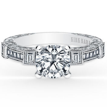 "Kirk Kara ""Carmella"" Diamond Engagement Ring"