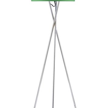EURO STYLE COLLECTION LISBOA FLOOR LAMP W/ FABRIC LAMPSHADE (TALL) MODERN, MINIMALIST TRIPOD STANDING LIGHT | LIVING ROOM, BEDROOM, OFFICE | GREEN