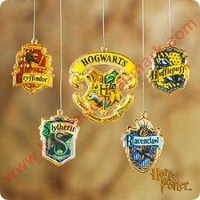 2001 Harry Potter Hogwarts School Crests Hallmark Ornament