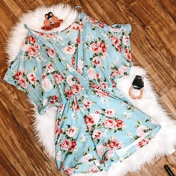 Beautiful Day Floral Romper