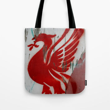 liverpool liver bird Tote Bag by g-man