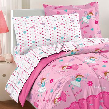 Magical Princess Toddler Bedding Set Fairy Castle Bed