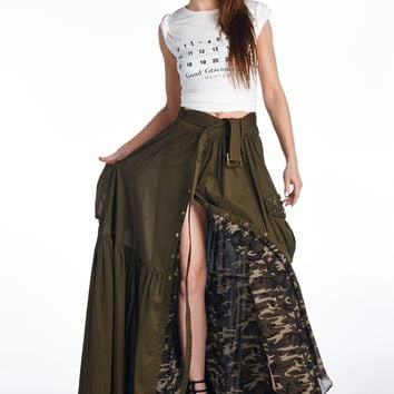 TOV HOLY Olive Maxi Skirt from Kiss Kiss Darling Boutique