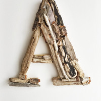 "8"" Driftwood Letter, Letter A,  Woodland Letter,  Wall Letter, Rustic Letter, Wood Letter, Nursery Wall Letter, Rustic Nursery Decor"