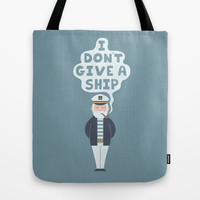 Indifferent Captain Tote Bag by Teo Zirinis