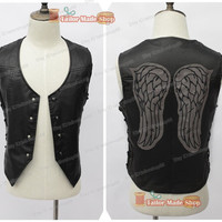 The Walking Dead Daryl Dixon Cosplay Black Vest