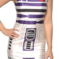 R2D2 Sleevless Mini Dress Design 3005