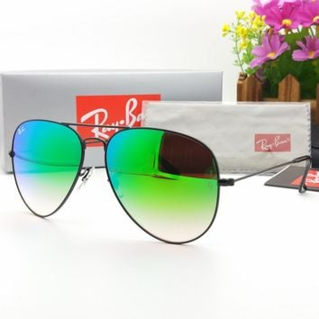 Original Ray-Ban Aviator Metal sunglasses RB3025/3026 002/4J Gradual colourfull Glass Ready For Women Men