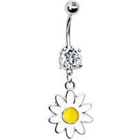 Dangling Daisy Dual Gem Belly Ring | Body Candy Body Jewelry