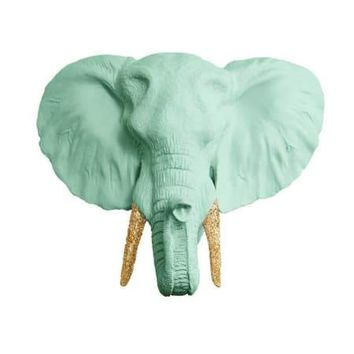 The Savannah Large Elephant Head Faux Taxidermy With Glitter