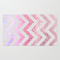 FUNKY MELON PINKBERRY Area & Throw Rug by Monika Strigel