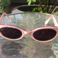 Pearly Pink Peepers Vintage1950's Sunglasses by MarleneX on Etsy