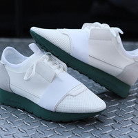 BALENCIAGA Women White Race Runner sneakers